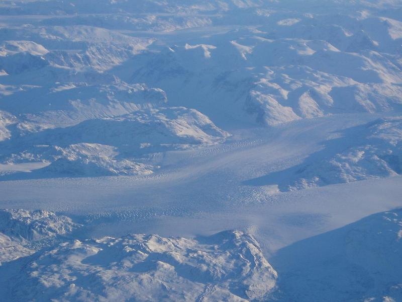 Glaciers in the fjords of Greenland