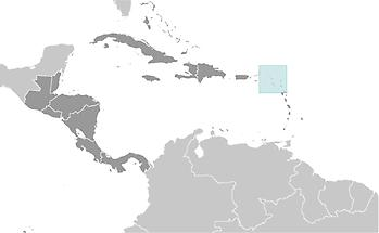 Saint Barthelemy in Central America and Caribbean