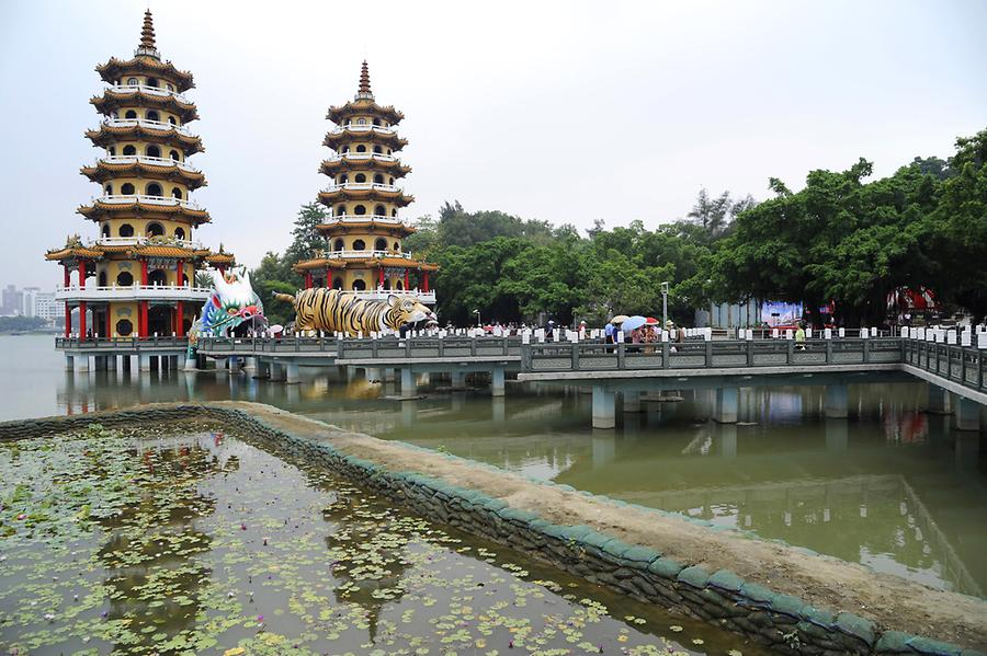 Twin Pagodas Lotus Pond