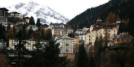 Blick in den Ort Bad Gastein