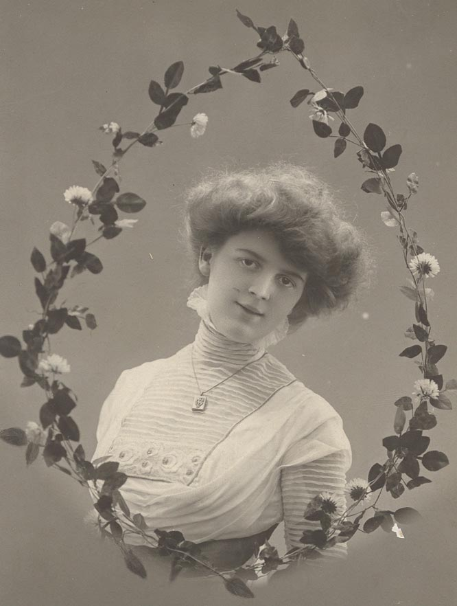 Frisur um 1900