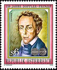 Briefmarke, Christian Doppler