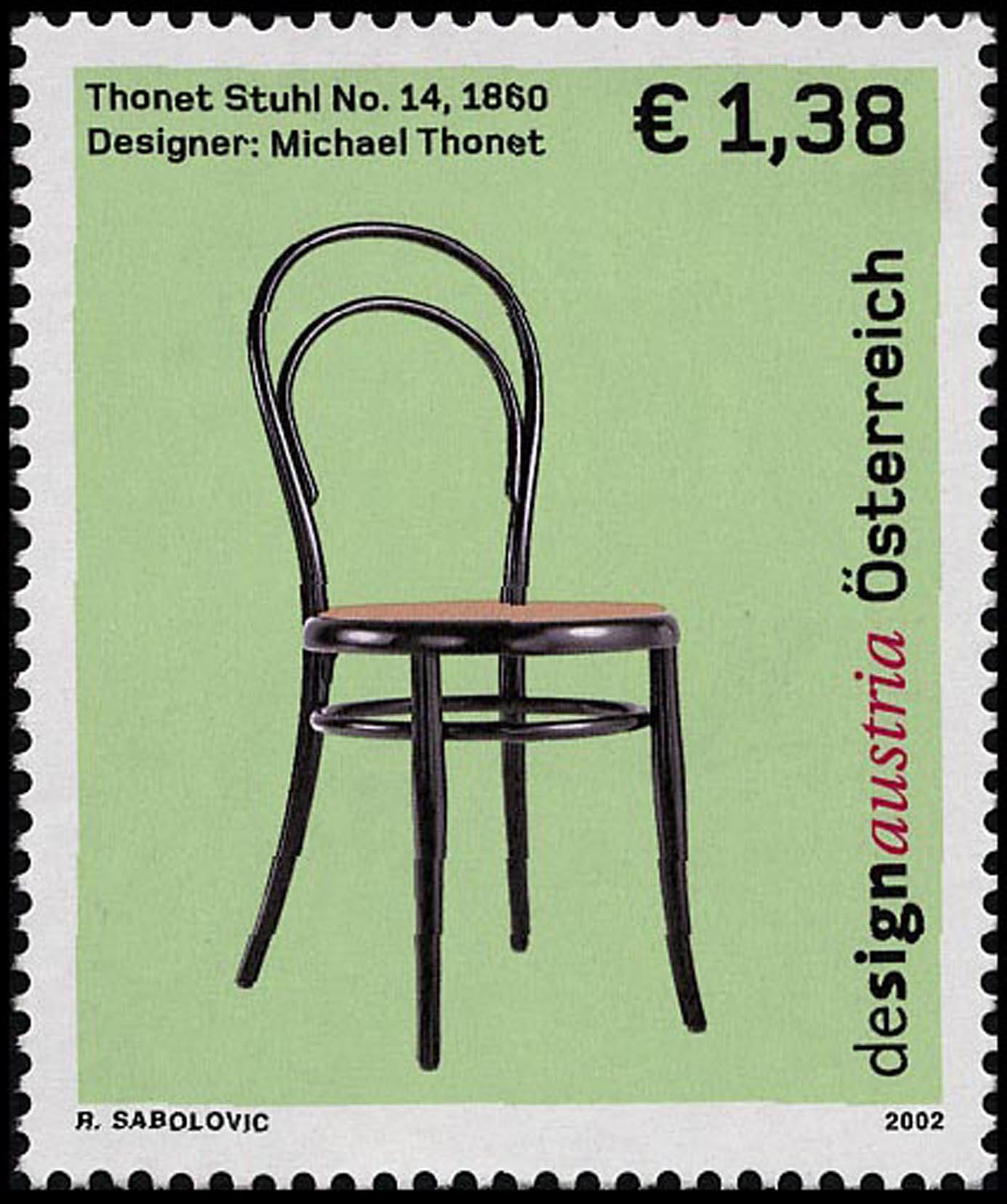 Thonet Sessel 2002 Briefmarken