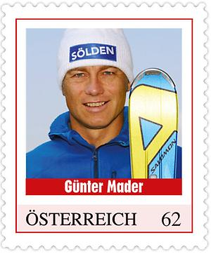 Briefmarke, Günter Mader