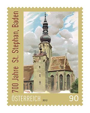 Briefmarke, St. Stephan in Baden