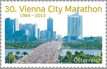 Briefmarke, 30. Vienna City Marathon
