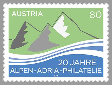 Briefmarke, 20 Jahre Alpen-Adria-Philatelie