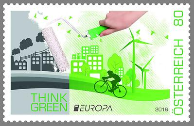 "Briefmarke, EUROPA 2016 – ""Think Green'"