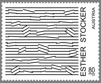 Briefmarke, Esther Stocker
