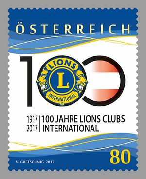 Briefmarke, 100 Jahre Lions Clubs International