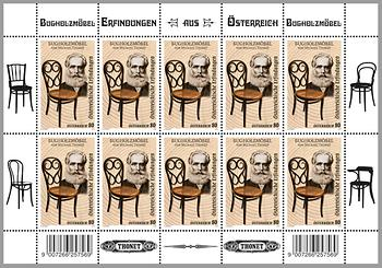 Briefmarke, Bugholzmöbel – Michael Thonet