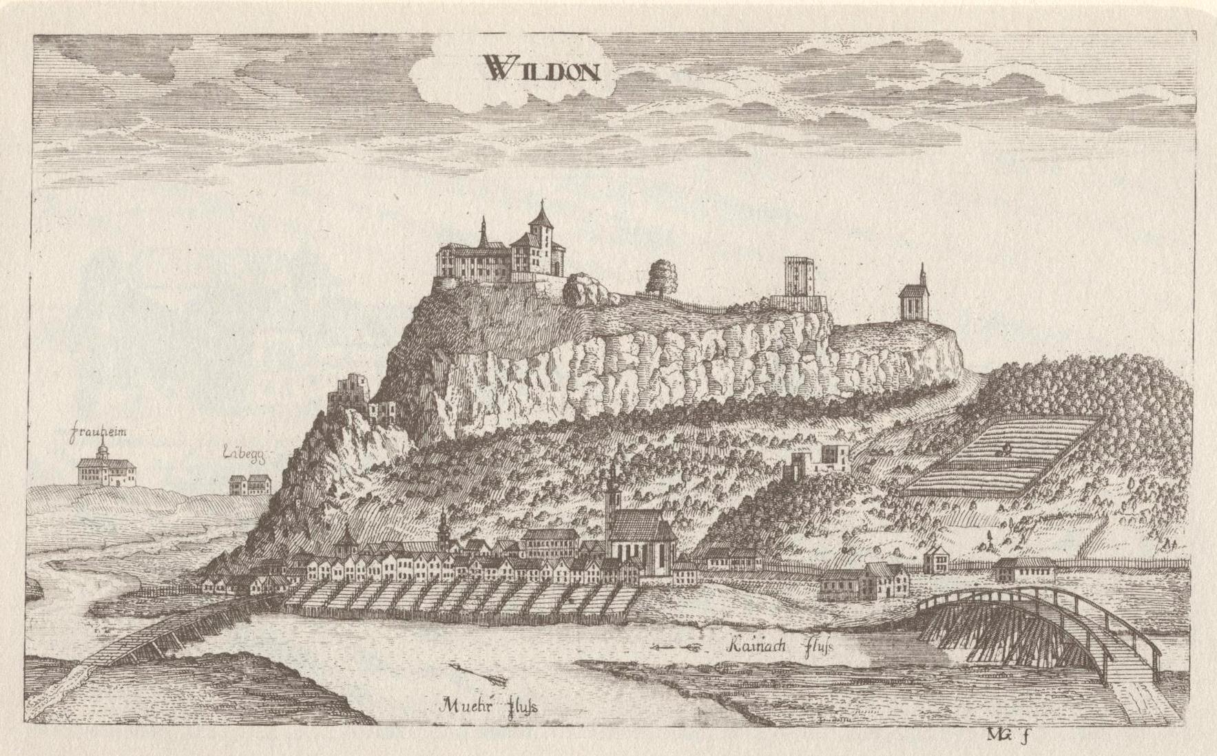 wildon burgruine  steiermark  burgen und schlösser  kunst und  - burg wildon  foto vischers topographia ducatus styriae