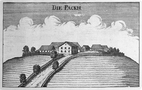 Pack in Georg M. Vischers 'Topographia Ducatus Stiriae'