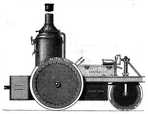 1868: Thompson*s Road Sreamer für den Straßeneinsatz– (Grafik: The Mechanic's Magazine)