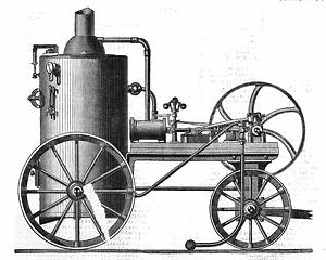 1899: Transportable Dampfmaschine von T. Wilkins (Lokomobil) – (Grafik: The Mechanic's Magazine)