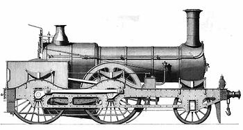 1868: Great Northern Railway Express Engine von John Fowler & Co. für den Schieneneinsatz – (Grafik: The Mechanic's Magazine)