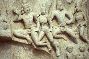 Gods shown in knee-flight