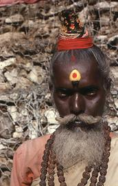 Far from the South of India this Sadhu came to Dakshinkali