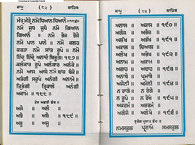 Text in Gurmukhi-writing