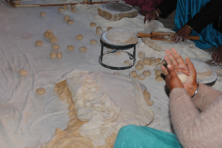 Preparing of bread dough