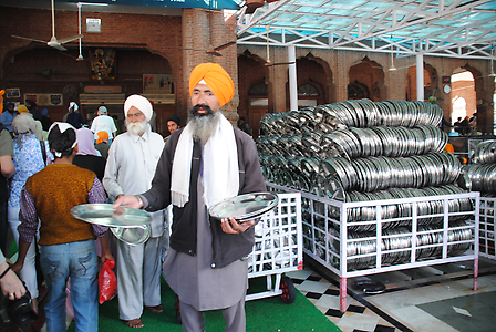Every hungry person, rich or poor, can eat for free in a Langar of the Gurdwara