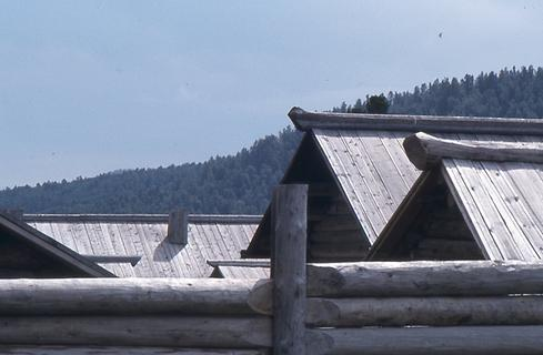 Roofs covered with planks