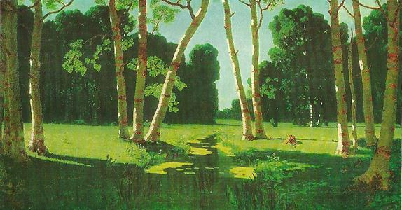 Archip Ivanowitsch Kuindzhi (1842-1910) Birches in the Taiga, 1879 Tretyakov Gallery Moscow