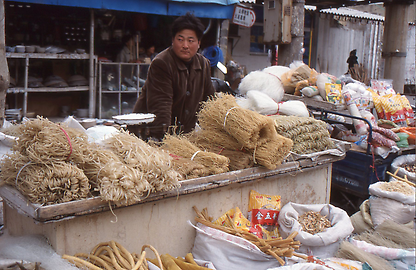 Selling of noodles at a village market