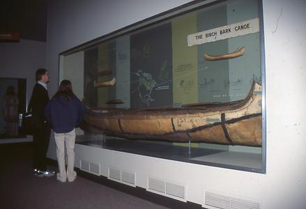 The very famous stable, very light Indian birch bark canoe