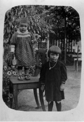 Erich und margarethe polletin im klimtgarten um 1910 foto
