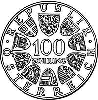 100 Schilling Johann Strauß Jahr 1975 1975 1975 Kunst Und
