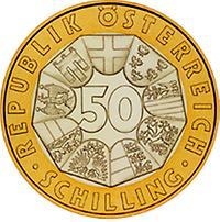 50 Schilling 1000 Jahre Ostarrichi 996 1996 1996 1996 Kunst