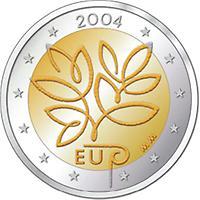 2 Euro Finnland 2004 2004 Münzen Kunst Und Kultur Im Austria