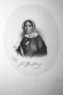 Ida Pfeiffer, Lithographie Von Adolf Dauthage. 1855