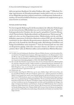 """Bild der Seite - 379 - in """" IM NATIONALEN ABWEHRKAMPF DER GRENZLANDDEUTSCHEN"""" - Akademische Burschenschaften und Politik in Österreich nach 1945"""