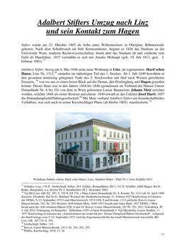 Image of the Page - 11 - in Adalbert Stifter und Schloss Hagen