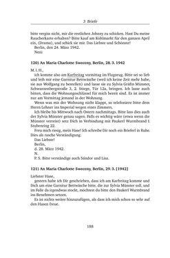 Bild der Seite - 188 - in Alexander Lernet-Holenia und Maria Charlotte Sweceny - Briefe 1938-1945