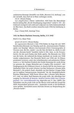 Image of the Page - 318 - in Alexander Lernet-Holenia und Maria Charlotte Sweceny - Briefe 1938-1945