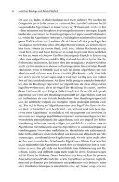 Bild der Seite - 10 - in Algorithmuskulturen - Über die rechnerische Konstruktion der Wirklichkeit