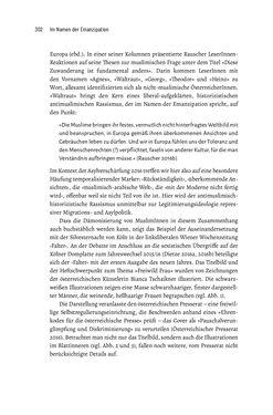 Image of the Page - 302 - in Im Namen der Emanzipation - Antimuslimischer Rassismus in Österreich