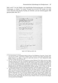 Bild der Seite - 87 - in Der sogenannte Antiquus Austriacus und weitere auctores antiquissimi - Zur ältesten Überlieferung römerzeitlicher Inschriften im österreichischen Raum