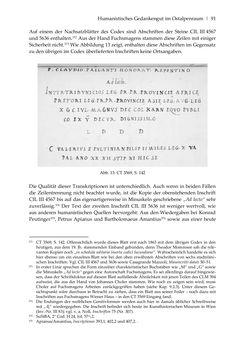 Bild der Seite - 91 - in Der sogenannte Antiquus Austriacus und weitere auctores antiquissimi - Zur ältesten Überlieferung römerzeitlicher Inschriften im österreichischen Raum
