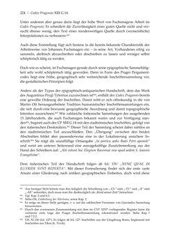 Bild der Seite - 224 - in Der sogenannte Antiquus Austriacus und weitere auctores antiquissimi - Zur ältesten Überlieferung römerzeitlicher Inschriften im österreichischen Raum