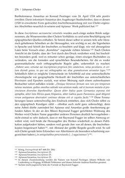 Bild der Seite - 276 - in Der sogenannte Antiquus Austriacus und weitere auctores antiquissimi - Zur ältesten Überlieferung römerzeitlicher Inschriften im österreichischen Raum