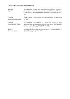 Image of the Page - 538 - in Der sogenannte Antiquus Austriacus und weitere auctores antiquissimi - Zur ältesten Überlieferung römerzeitlicher Inschriften im österreichischen Raum