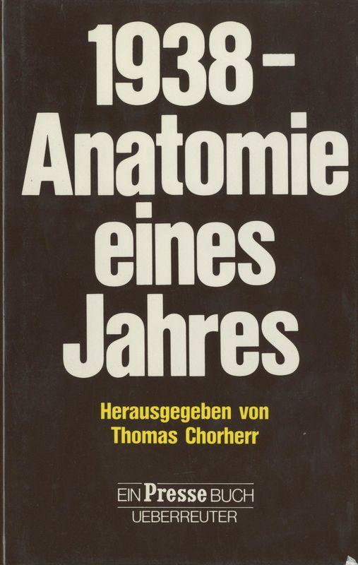 Bucheinband von '1938 - Anatomie eines Jahres'