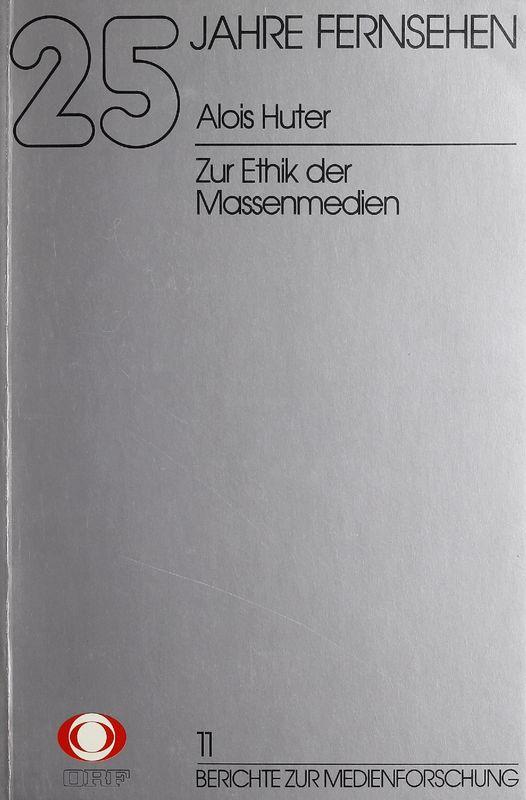 Bucheinband von '25 Jahre Fernsehen - Zur Ethik der Massenmedien, Band 11'