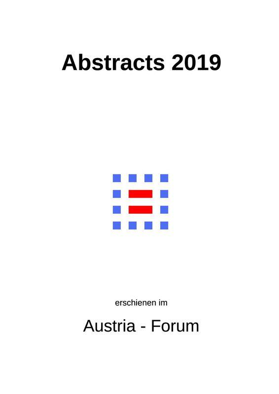 Bucheinband von 'Abstracts 2019'