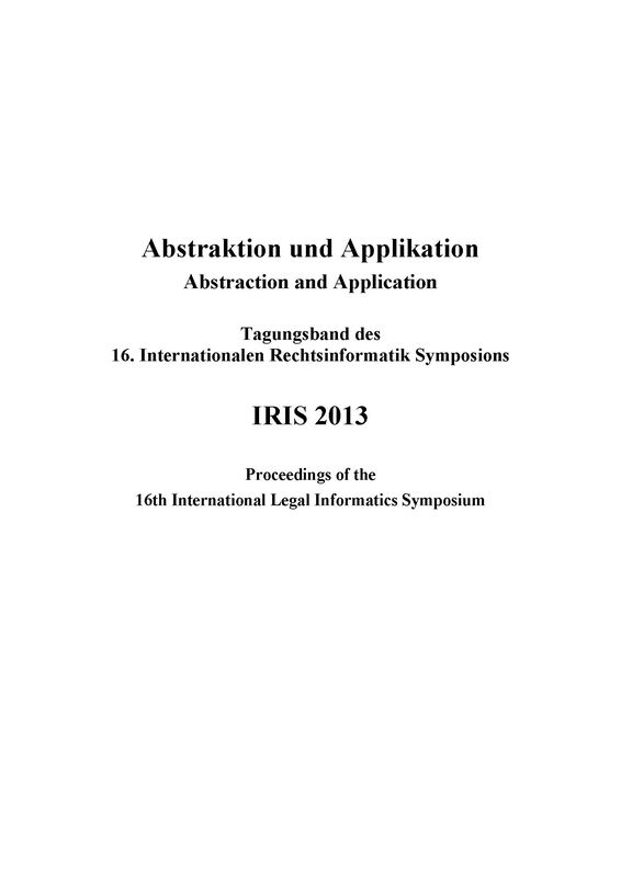 Cover of the book 'IRIS 2013 - Abstraktion und Applikation - Abstraction and Application'