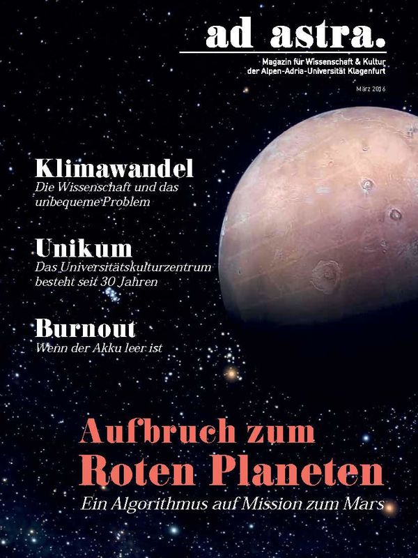 Bucheinband von 'ad astra. - Magazin für Wissenschaft & Kultur der Alpen-Adria-Universität Klagenfurt, Band 2'